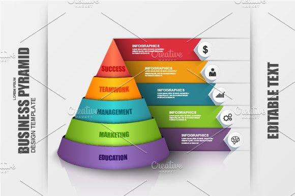business pyramid infographic presentation templates creative market