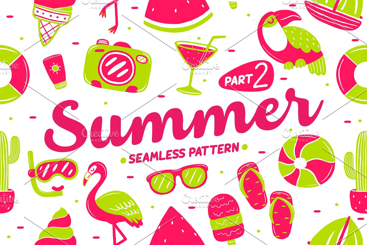 Summer Seamless Pattern (part 2)