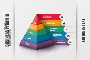 Business 3D Pyramid Infographic