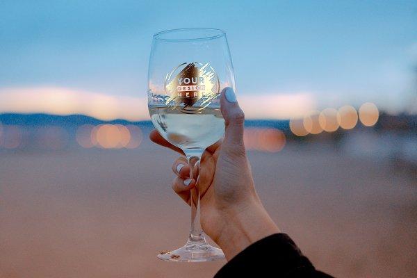 Wine Glass Mock-up #16