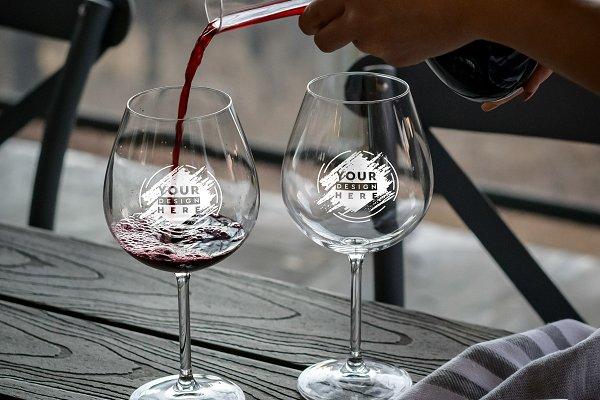 Wine Glass Mock-up #15