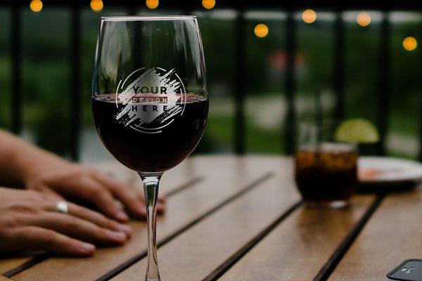 Wine Glass Mock-up #13