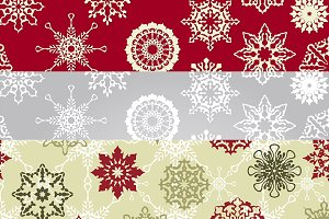 Vector seamless Christmas patterns