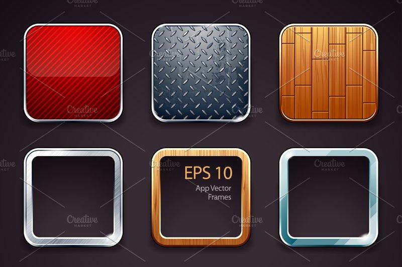 App Icons Frames Set #1 ~ Icons ~ Creative Market
