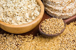 Variety of grains and seeds