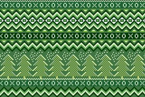 Pixel christmas holiday pattern