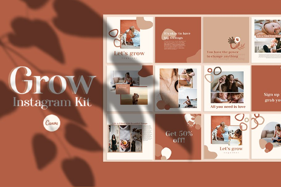 Grow - Instagram Templates for Canva