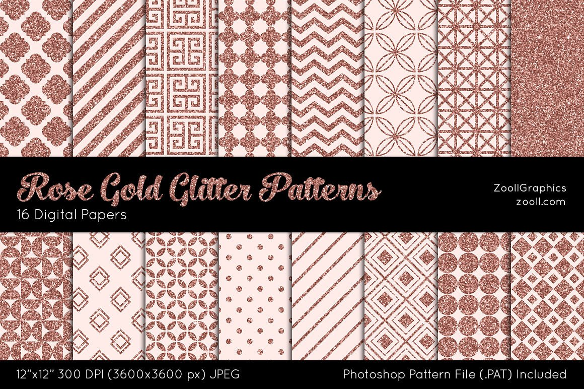 Rose Gold Pattern Custom Decorating Ideas