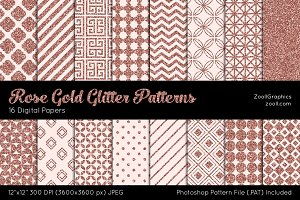 Rose Gold Glitter Digital Papers