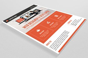 Flyer for Web Designer-V108