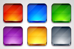 Glossy App Icons Frames