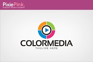 Color Media Logo Template