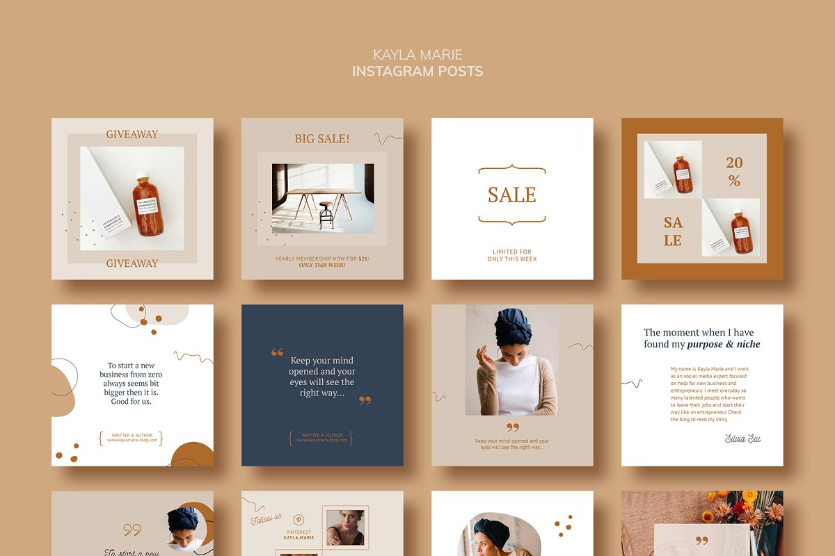 Instagram Pack / Kayla in Instagram Templates - product preview 8