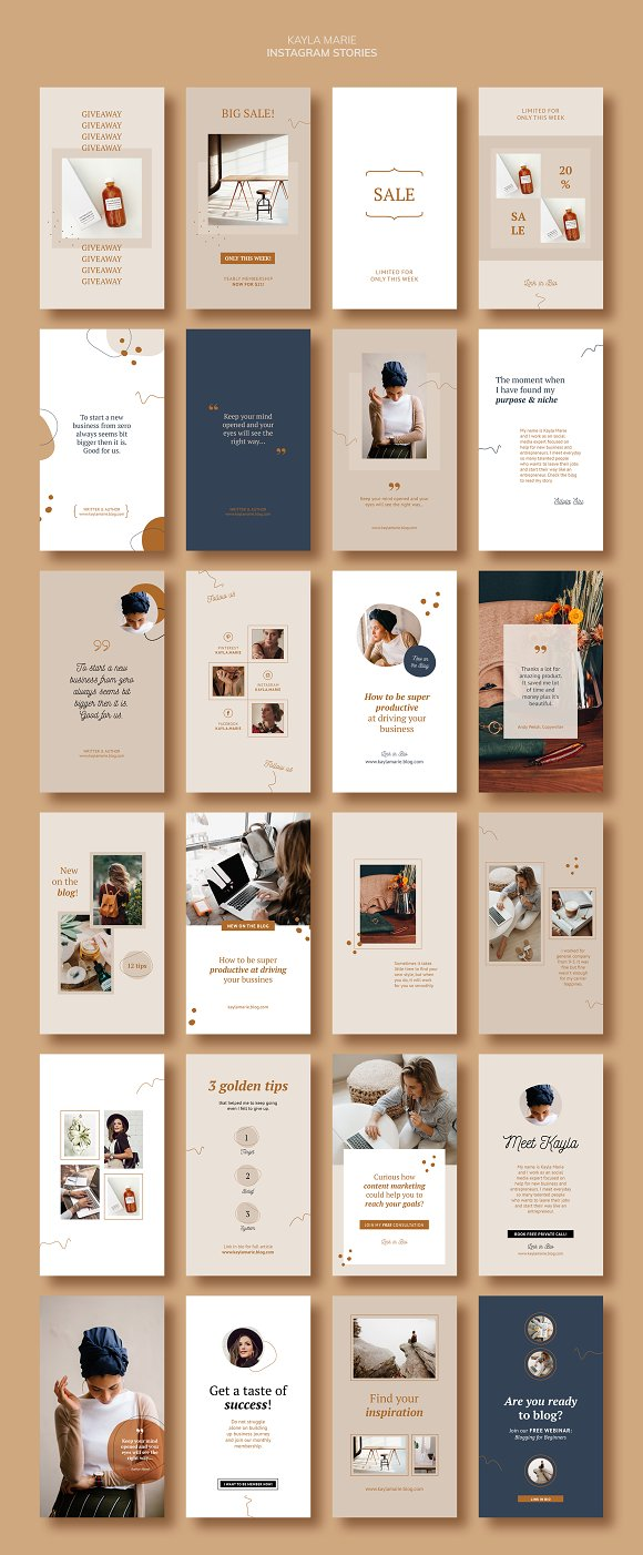 Instagram Pack / Kayla in Instagram Templates - product preview 1