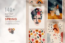 140+ abstract cut out spring set