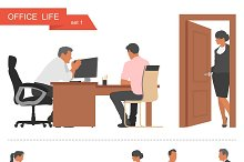 Office life & business icons. Vector