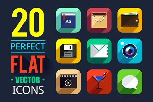20 Flat App Icons