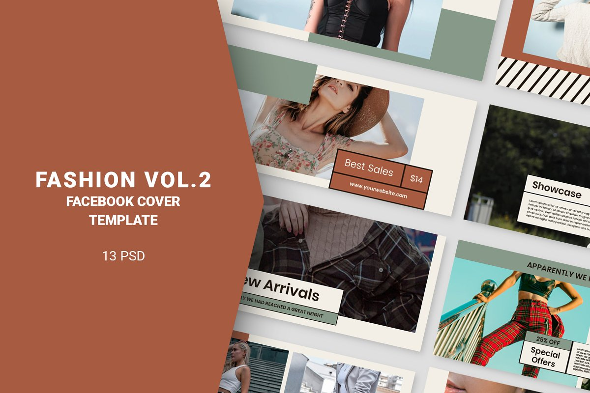 Fashion Vol.2 Facebook Cover in Facebook Templates