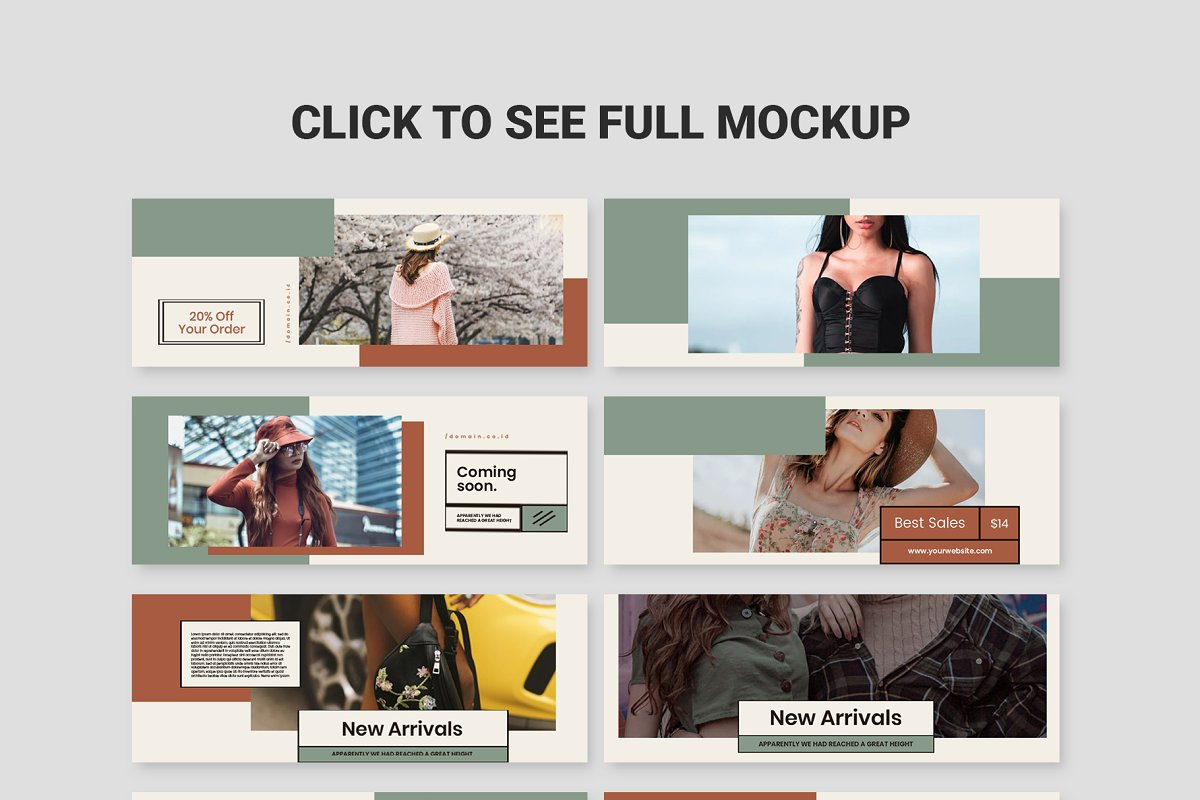 Fashion Vol.2 Facebook Cover in Facebook Templates - product preview 1