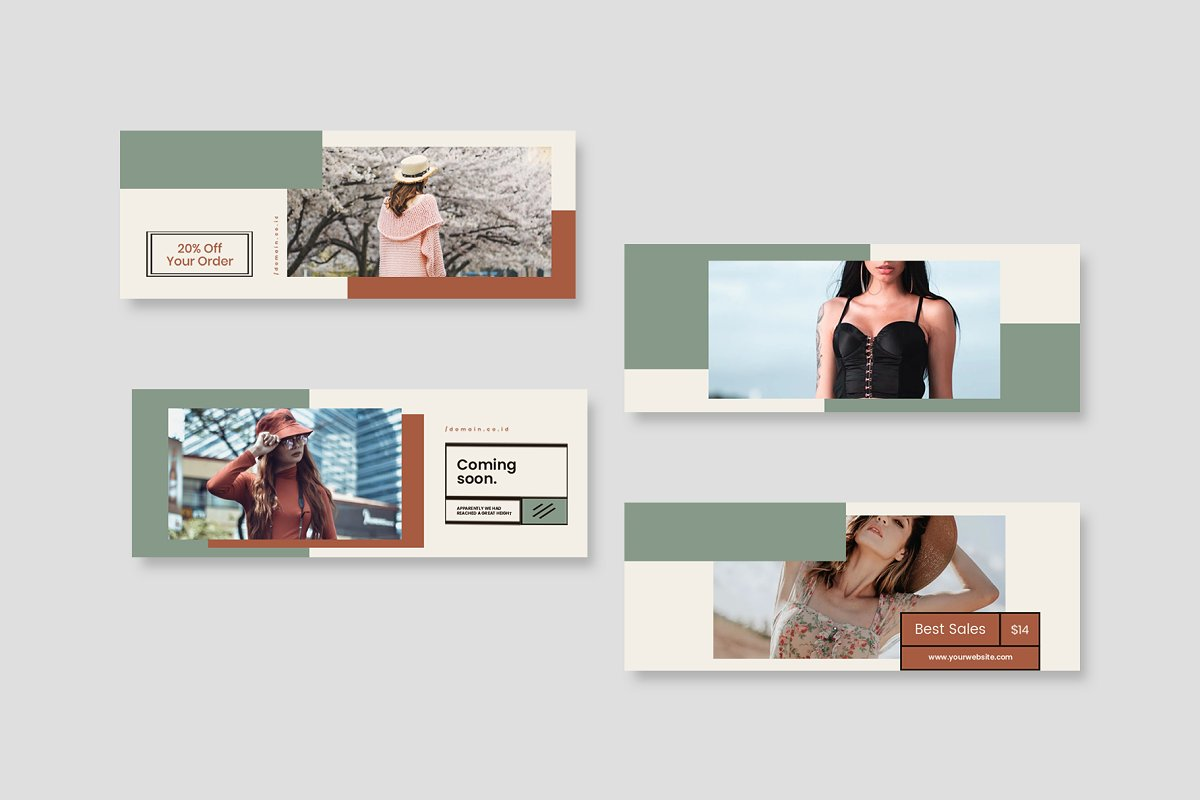 Fashion Vol.2 Facebook Cover in Facebook Templates - product preview 3