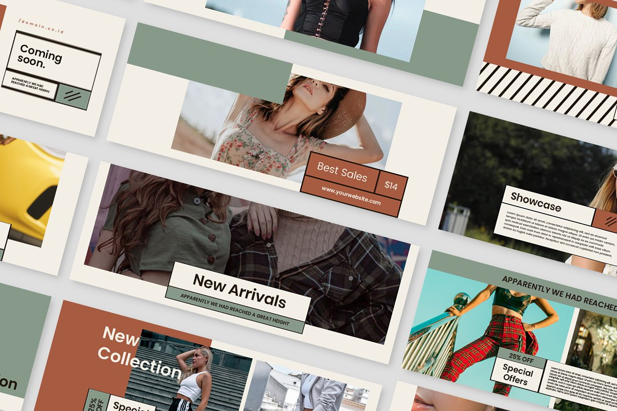 Fashion Vol.2 Facebook Cover in Facebook Templates - product preview 6
