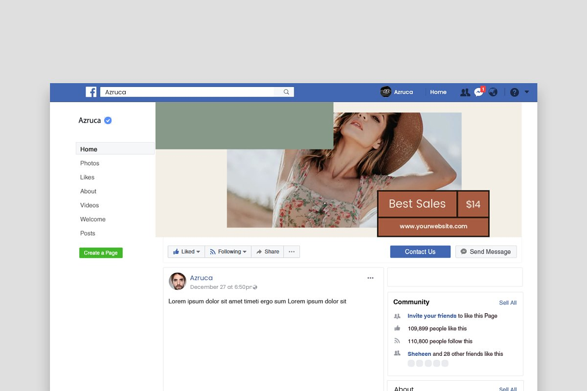 Fashion Vol.2 Facebook Cover in Facebook Templates - product preview 7