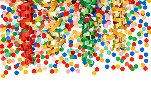 Confetti and streamer decoration