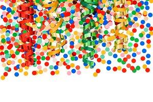 Confetti and streamer decoration