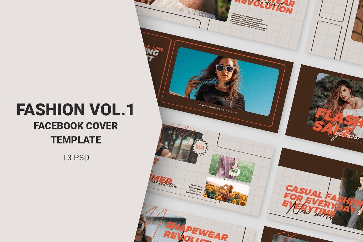 Fashion Vol.1 Facebook Cover in Facebook Templates