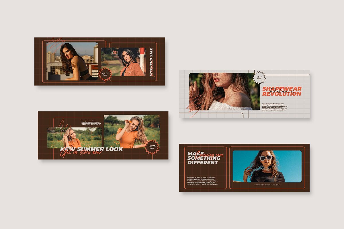 Fashion Vol.1 Facebook Cover in Facebook Templates - product preview 2