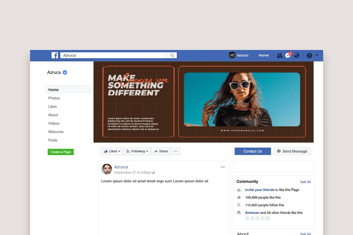 Fashion Vol.1 Facebook Cover in Facebook Templates - product preview 7