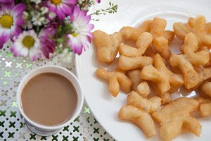 Coffee and fried bread