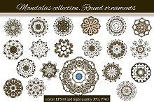 Mandalas collection. Round-3