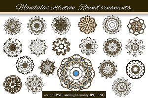 Mandalas collection. Round-3