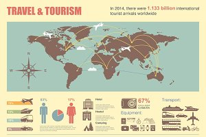 Travel vector infographic & icons