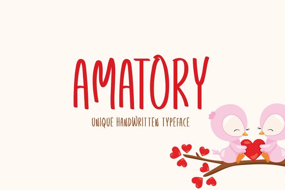 Amatory Typeface