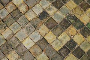 Medieval ceramic floor tiles