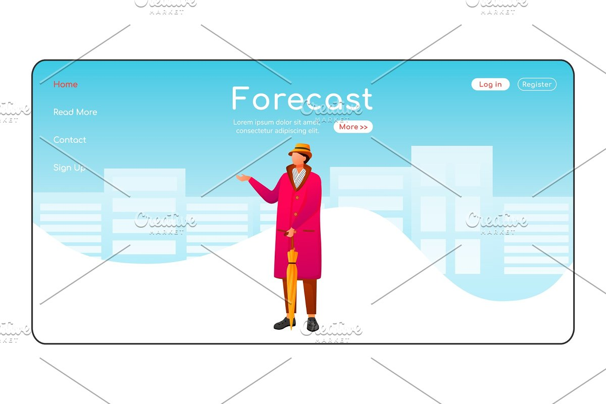 Forecast landing page template