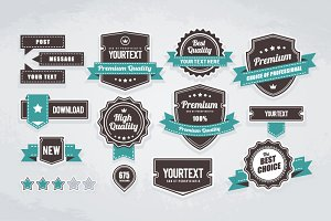 Quality Badges | Retro Style Emblems