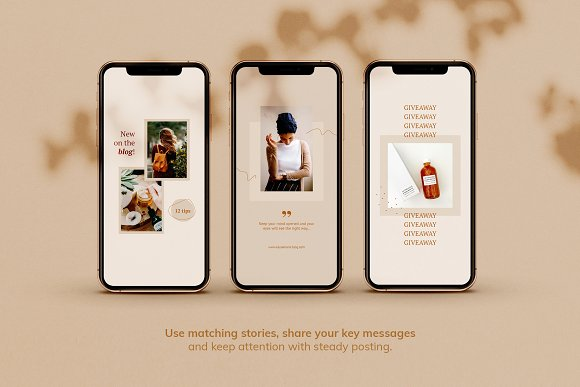 Instagram Pack / Kayla in Instagram Templates - product preview 3