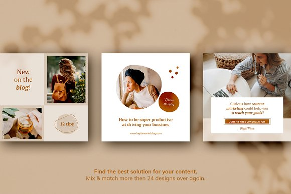 Instagram Pack / Kayla in Instagram Templates - product preview 6