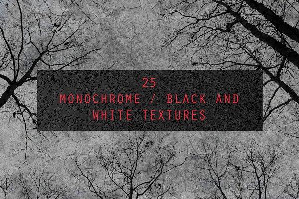 25 monochrome BW Textures