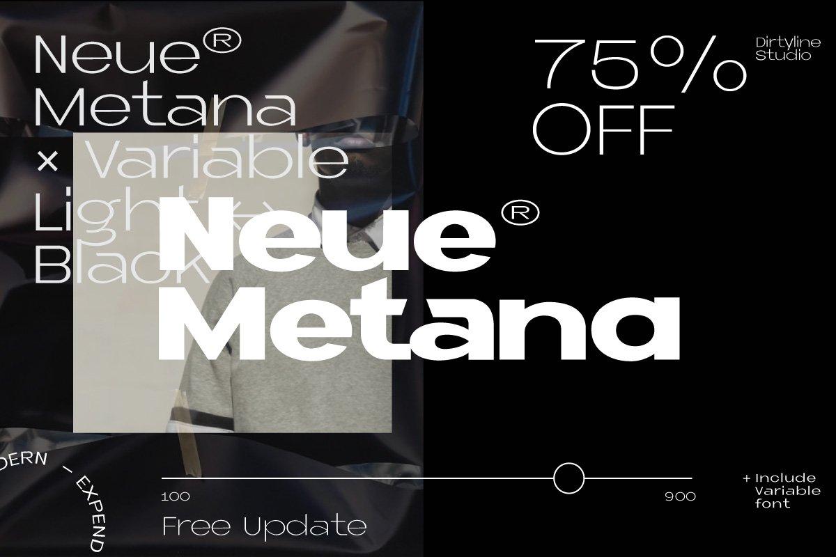 Neue Metana Font Family - 75% OFF