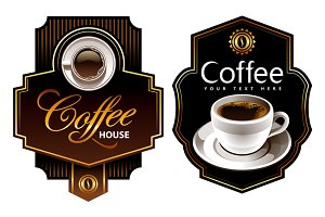 4 Coffee Sticker Designs