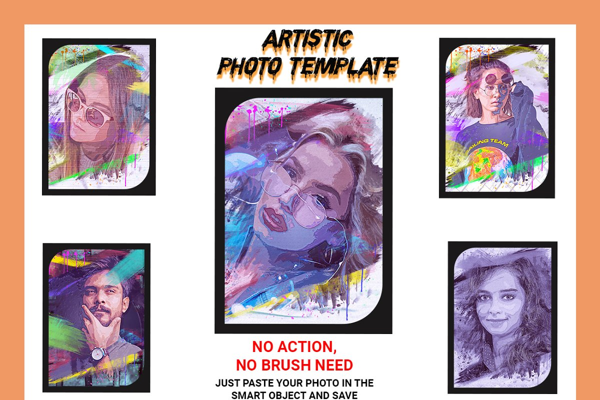 Artistic Photo Template