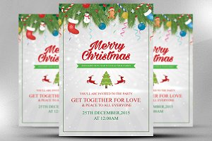 christmas new year invitation card