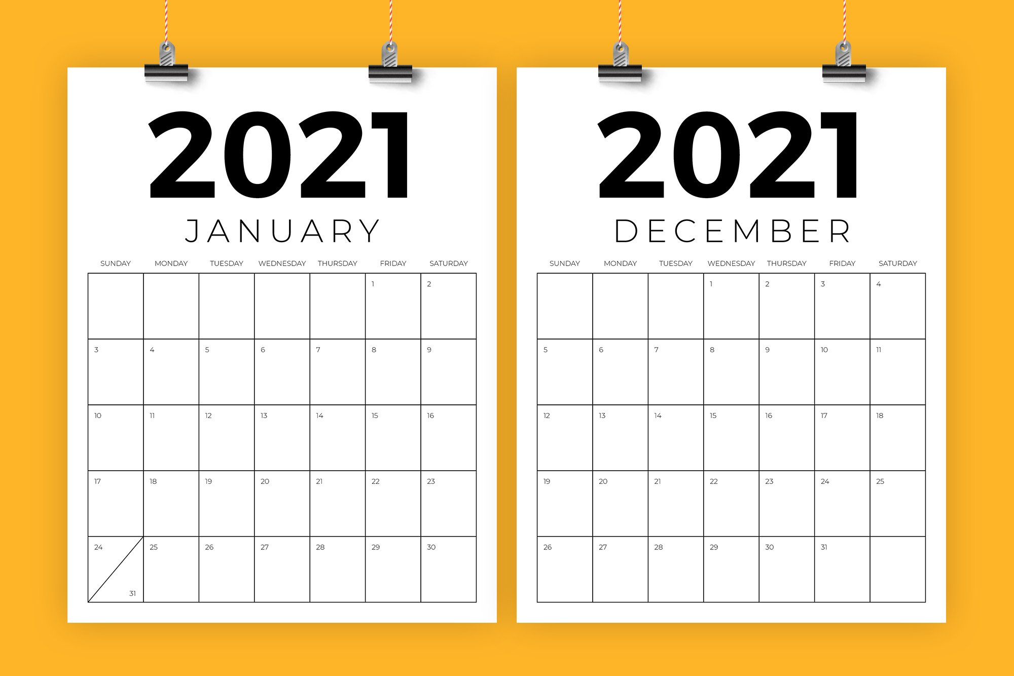 Vertical 8 5 X 11 Inch 2021 Calendar Creative Illustrator Templates Creative Market