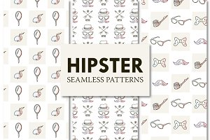 9 Hipster Seamless Patterns