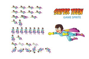 Super Teen Game Sprite