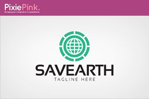 Save Earth Logo Template